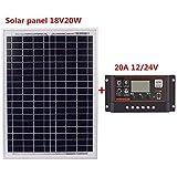 10A / 20A / 30A / 40A / 50A / 60A 12V Écran LCD 24V Double port Contrôleur de...