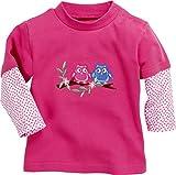Schnizler Baby-Mädchen Sweatshirt Langarmshirt Interlock Eulen, Oeko-Tex Standard 100, Rosa (Pink 18), 62