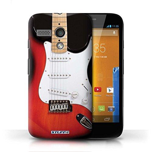 Hülle Case für Motorola MOTO G (2013) / Sunburst Electric Entwurf / Gitarre Collection Rot Electirc