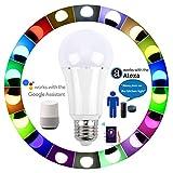 Farbwechsel Smart LED Leuchtmittel WiFi–RGB +, Tageslicht, dimmbar, funktioniert mit Alexa und Google Assistant, 7W 2700–6500K, e27,60Watt entspricht