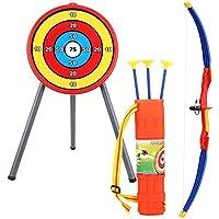 VGEBY1 Arco de Tiro con Arco para niños, Juego de Juguete de Flechas Suaves con Objetivo para niños Juego al Aire Libre e Interior