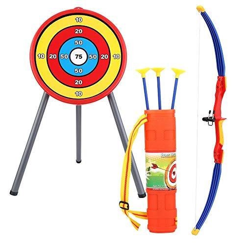 Spielzeug Set, Kinder Bogen Ziel Set Schießen Spielzeug mit Weichen Pfeilen, Köcher für Outdoor Indoor ()