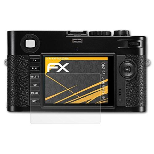 atFoliX Panzerfolie kompatibel mit Leica M-P Typ 240 Schutzfolie, entspiegelnde und stoßdämpfende FX Folie (3X)