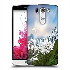 Snoogg Snow Mountain Designer Protective Phone Back Case Cover For LG G3 BEAT