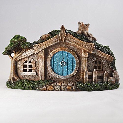 Fairy Garden UK Hobbit Cottage LED Lichter Mystical Garden Innen Decor Elf Pixie Home L28cm