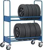 MTET588 Carro Transporte para Neumáticos sin Base, Carga 500 Kg, 1991 mm Longitud x 671 mm Ancho x 1671 mm Altura