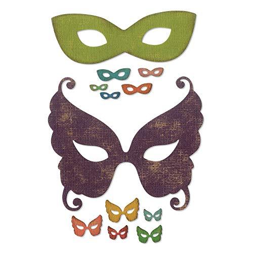 Sizzix Thinlits Stanzformen Set 12Pk venezianische Maske Express Maske