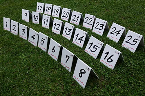 Parcoursnummern/Rally Obedience Nummern/Zahlen - Set/Nummernschilder - durchnummeriertes Set 1-25 ()