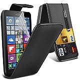 Microsoft Lumia 640 XL Black Farbe PU Lederetui Flip Hülle mit Displayschutz-Folie & Eingabestift Von Gadget Giant®