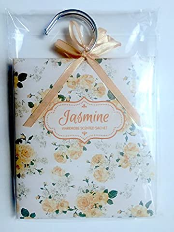 Honorine Rosea Floral Decorated Scented Wardrobe Hanger Sachets - Pack