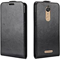 CaseFirst Wiko View Wallet Leather Case with Protective Durable Back Shell Shell Folio flip Cell Phone Cover Bag with Card Slots,Cash Pocket,Black