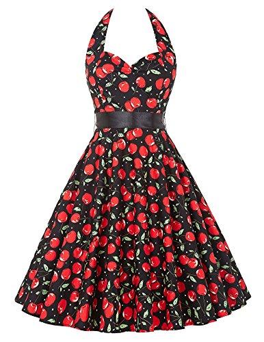 Besondere Blumenmuster Blumendruck Retro Vintage Abiballkleid Tanzkleid XS