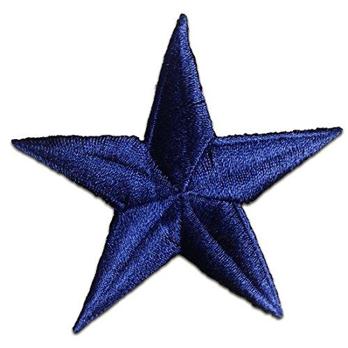 Marine Blau Stern Dunkel Blau Stern Dark Blue Star Patch ''7,9 x 7,9 cm'' - Aufnäher Aufbügler Applikation Applique Bügelbilder Flicken Embroidered Iron on Patches (Marine-blau-schwangerschafts-hosen)