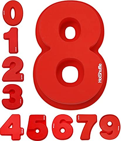 Large Silicone Number Cake Tin Mould Baking Birthday Anniversary 0 1 2 3 4 5 6 7 8 9