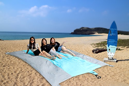 ineibo couverture de plage anti sable tapis de sol pour plage imperm able et pliable le. Black Bedroom Furniture Sets. Home Design Ideas