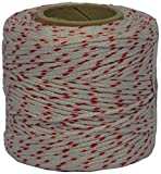 Corderie Italiane 006011477 Cordino Nylon su Tubetto, Bianco/Rosso, 1.8 mm, 100 m