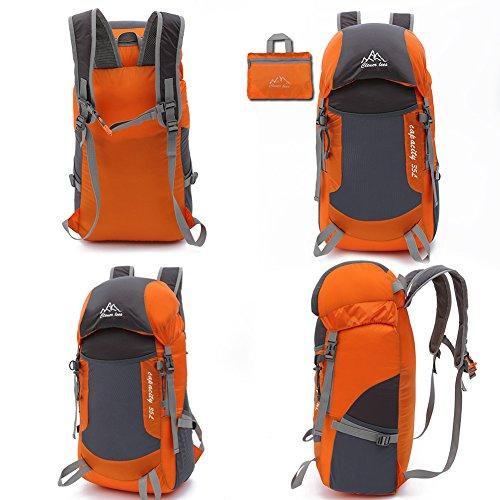 Borsa a tracolla da viaggio pieghevole ultra-light Portable alpinismo per esterni, da viaggio, Orange Orange