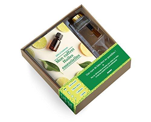 Mon coffret huiles essentielles : Un livre avec 100 formules pour diffuser du bien-être chez soi + un flacon roll-on en verre, un entonnoir et une pipette pour vos préparations