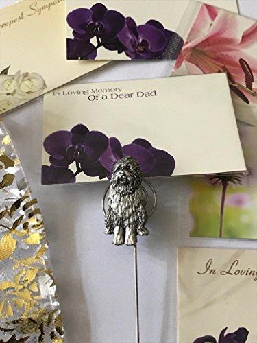 Bearded Collie Hund Memorial Grabe dem Spiel Beerdigung Mum Nan Dad Freund ppd14?Pets -