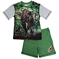 Jurassic World Boys Pyjamas Official T-REX Dinosaur Shorty Pjs Sizes from 4 to 10 Years