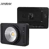 Andoer SC-406 Ultra Luminoso LED Mini Video Luce Pannello della Lampada 95+ 5500K con 2 Filtri per Videocamera Canon Nikon Sony DSLR Leggero Portatile Regolabile