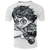 SUNCHTX Unisexe 3D Pattern Imprimé T-Shirts Chemise À Manches Courtes À Manches...