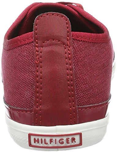 Tommy Hilfiger K1285eira Hg 1d1, Sneakers Basses Femme Rouge (Scooter Red 614)