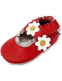 MiniFeet, Chaussures Bébé en Cuir Souple - Chaussons Bébé - Chaussures  Premiers Pas - 0 3686a9f9d15d