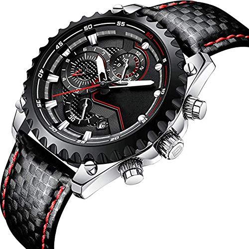 JINRU Männer Automatische mechanische Uhr Sport Luminous Business Fashion Casual Waterproof Edelstahluhren (Timex Uhr Mechanische)