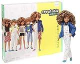 Creatable World - Figura Unisex Muñeco Articulado,  Pelucas con Rizos y Accesorios (Mattel GGG56)