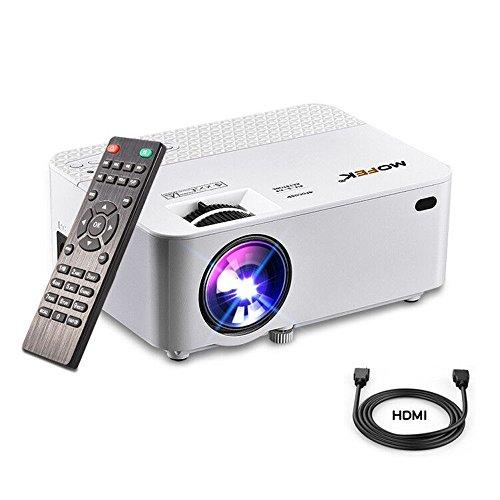 Mini Beamer HDMI Full HD MOFEK 1800 Lumens Heimkino Projektor,LCD Beamer Unterstützung 1080P Full HD,HDMI USB TF VGA AV Schnittstelle für PC Laptop PS4 TV BOX Smartphone - 1080p Mini-projektor