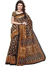 Indian Fashionista women's Bhagalpuri Cotton Saree with Blouse Piece (STM7016_Multicolor)