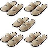 Spaufu 5 Pares Zapatillas SPA Home Invitado para Fiestas Zapatos Unisex para Viajes de Hotel Antideslizante