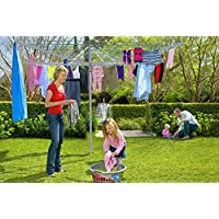 BARGAINS-GALORE NEW CLOTHES AIRER 4 ARM ROTARY GARDEN WASHING LINE DRYER 50M FOLDING OUTDOOR