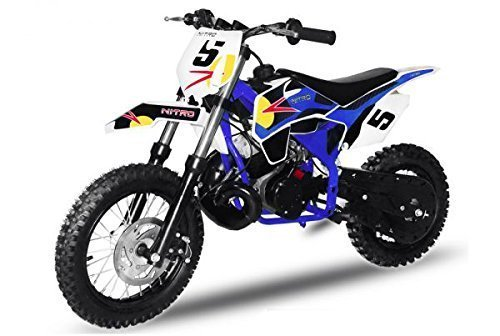 Dirtbike NRG50 GT 49cc 12/10 | Cross Enduro Pocket Bike Quad (Blau)