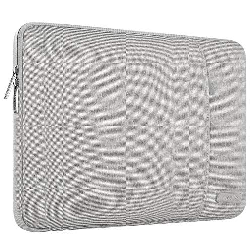 MOSISO Laptophülle Kompatibel 17-17,3 Zoll MacBook Pro, Thinkpad Chromebook Notebook Tablet, Polyester Wasserabweisend Vertikale Stil Sleeve Hülle Laptoptasche Notebooktasche, Grau