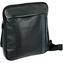 764fc5c3b3937 Roncato Compass borsello utility pelle con zip e porta Tablet 10