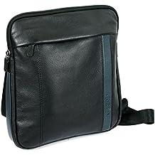 Roncato Compass borsello utility pelle con zip e porta Tablet 10