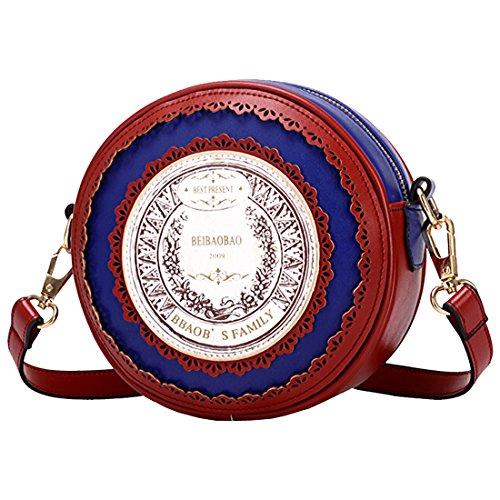 Borsa A Tracolla A Tracolla Vintage Pu Lolita Giapponese A Forma Rotonda Con Tracolla A Tracolla In Stile Giapponese