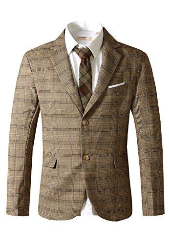 Hanayome Herren Anzug Regular Fit 3 Teilig Anzugjacke Anzughose Weste (X Men Anzüge)