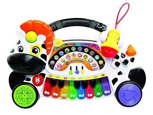 VTech - Remi la Cebra marchosa aprende, Piano aprende música, Notas e Instrumentos con Teclado Interactivo, Diferentes Funciones y Actividades Musicales (3480-179122)