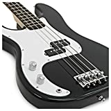 LA gaucher Guitare basse + 35W ampli Pack Black