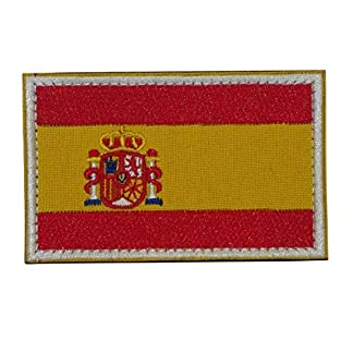 51g4HfhNwNL. SS324  - España Bandera Bordado Militar Táctico Airsoft con Velcro a la Ropa, Chaleco, Gorra, Mochila Directamente