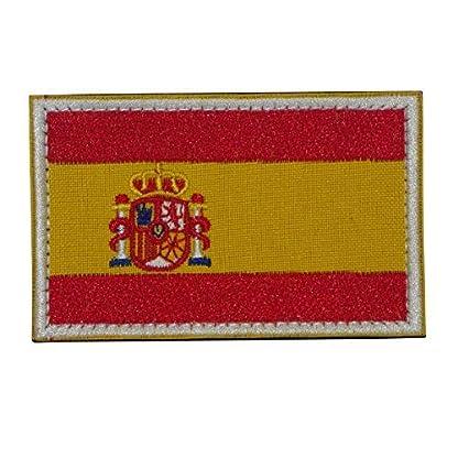 51g4HfhNwNL. SS416  - España Bandera Bordado Militar Táctico Airsoft con Velcro a la Ropa, Chaleco, Gorra, Mochila Directamente
