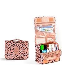 Pixnor - Bolsa de maquillaje, estuche organizador para cosméticos, neceser de viaje, lavable