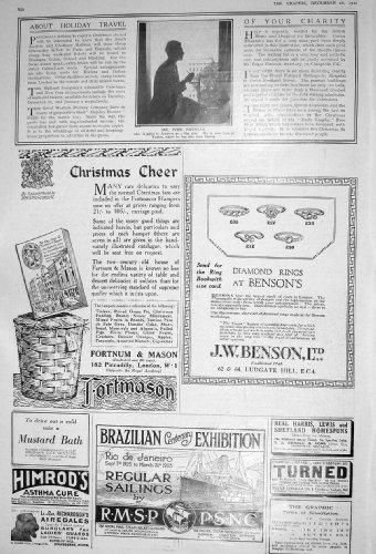 old-original-antique-victorian-print-1922-ivor-novello-america-film-star-benson-fortnum-mason-940m20
