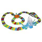 GALOOK Bambino pista giocattolo con auto elettronica petiot l'assemblaggio variabili della pista, il giocattolo del LES simulazione di scenario per i bambini (4)