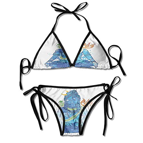 HLKPE Custom Bikini Wax Kit Sensitive Digital Art Eastern Figure with Printing Bikini