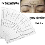 ATOMUS 100 Stücke Augenbraue Lineal Microblading Aufkleber Einweg Adhesive Microblading Lineal Guide Schablonen Permanent Make-up Lineal