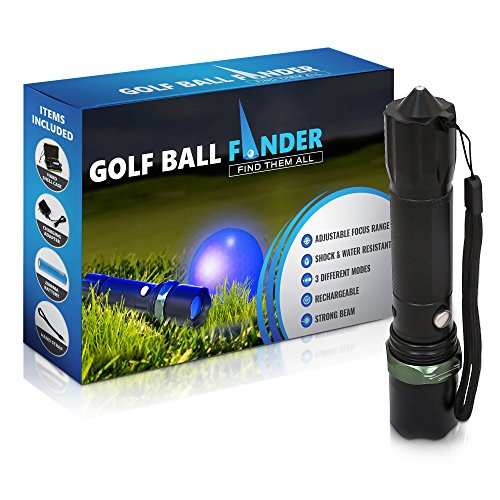 CloudRunnerz® Golf Ball Finder Rechargeable Black Ultraviolet Torch Perfect Golf gifts